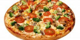Пицца для тех, кто не есть мясо