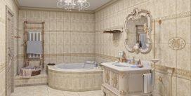 Дизайн ванной комнаты в стиле ампир